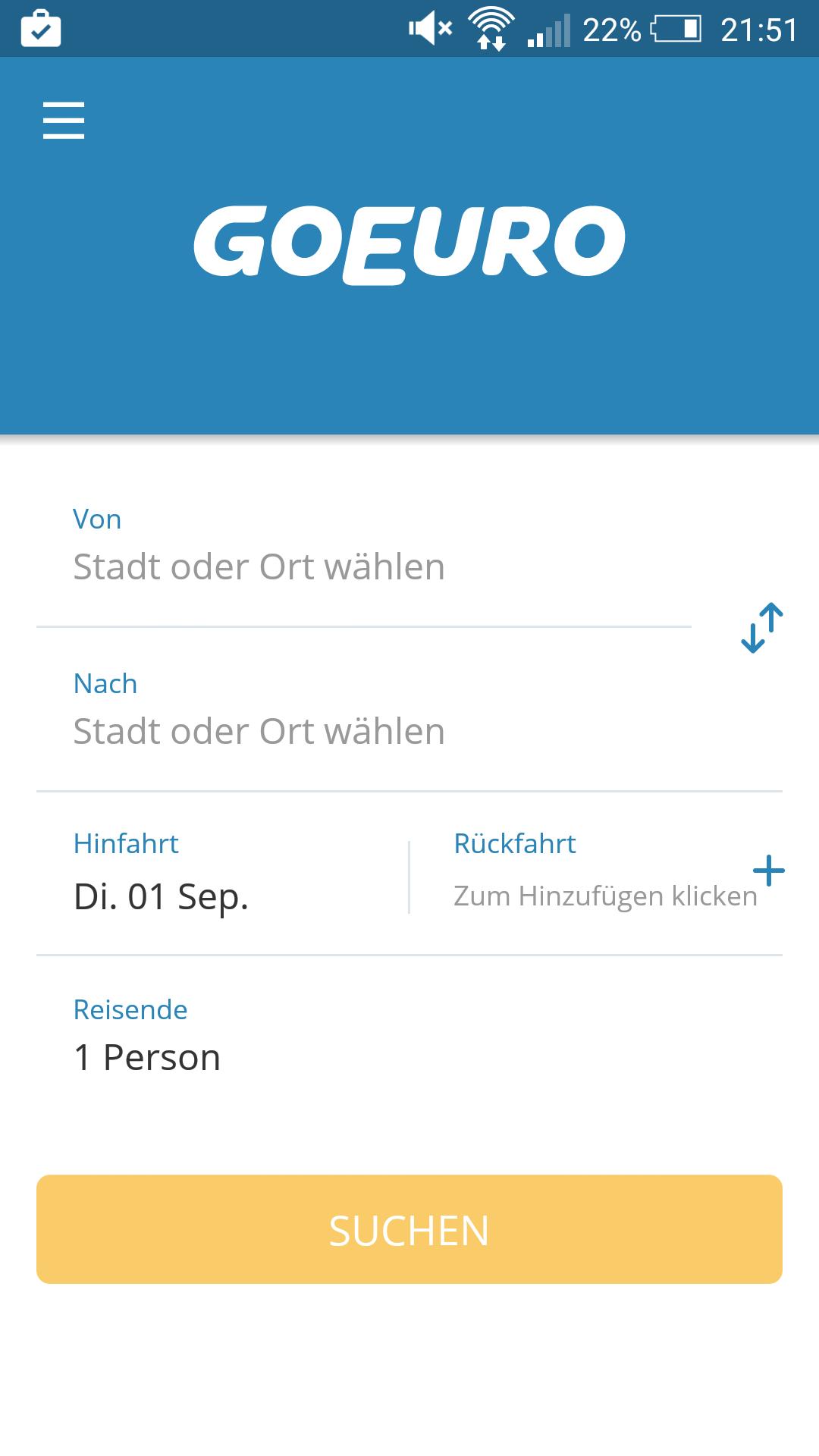 App-Vorstellung: GoEuro – Verbindungen suchen mal anders
