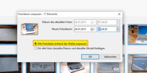 Picasa Exif Time Fix Dialog