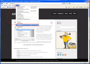 Internet Explorer 8-10 Sourcecode-Editor setzen - Step 1