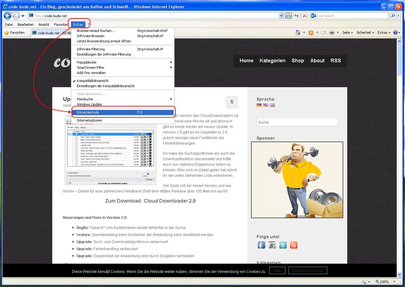 """""""Quellcode anzeigen""""-Editor im Internet Explorer ändern"""