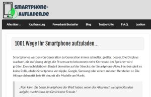 Smartphone aufladen - Nischencamp Artikelbild