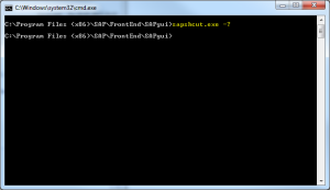 sapshcut.exe - help [...] </p> 	</div><!-- .entry-summary --> 	 	<footer class=