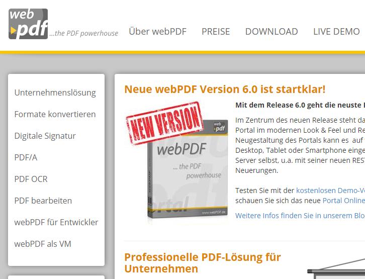 PDFs im Browser erstellen, konvertieren und signieren