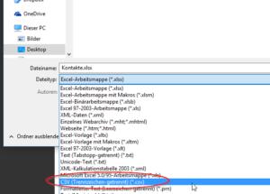 Kontaktliste Serienmails Thunderbird als CSV speichern