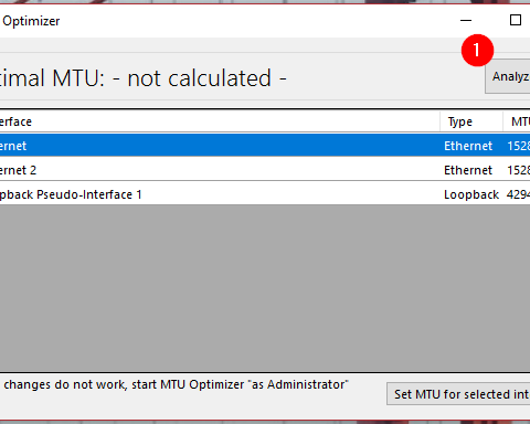 MTU Optimizer