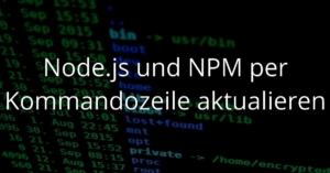 Update Node JS and NPM per CMD oder Shell